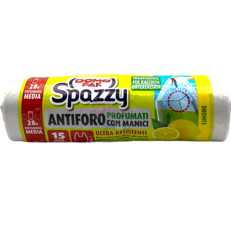 Domopak spazzy antiforo trasparente limone 52x54cm x15 pz