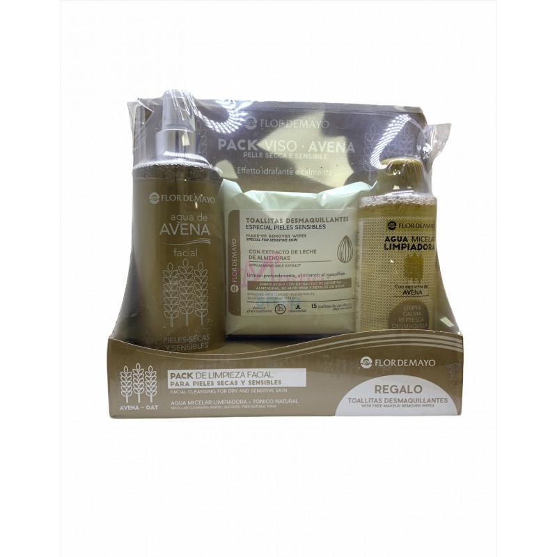 Flor de mayo confezione linea viso per pelli secche e sensibili