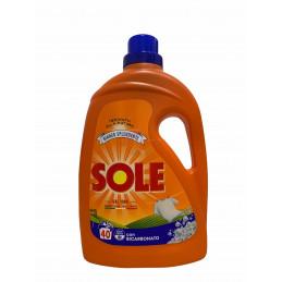 Sole lavatrice 40 lavaggi bianco splendente con bicarbonato 2 litri