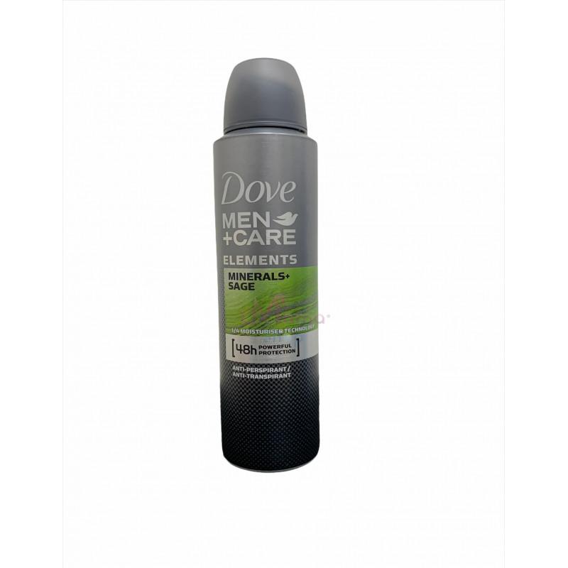 Dove deodorante spray men minerals sage 150 ml