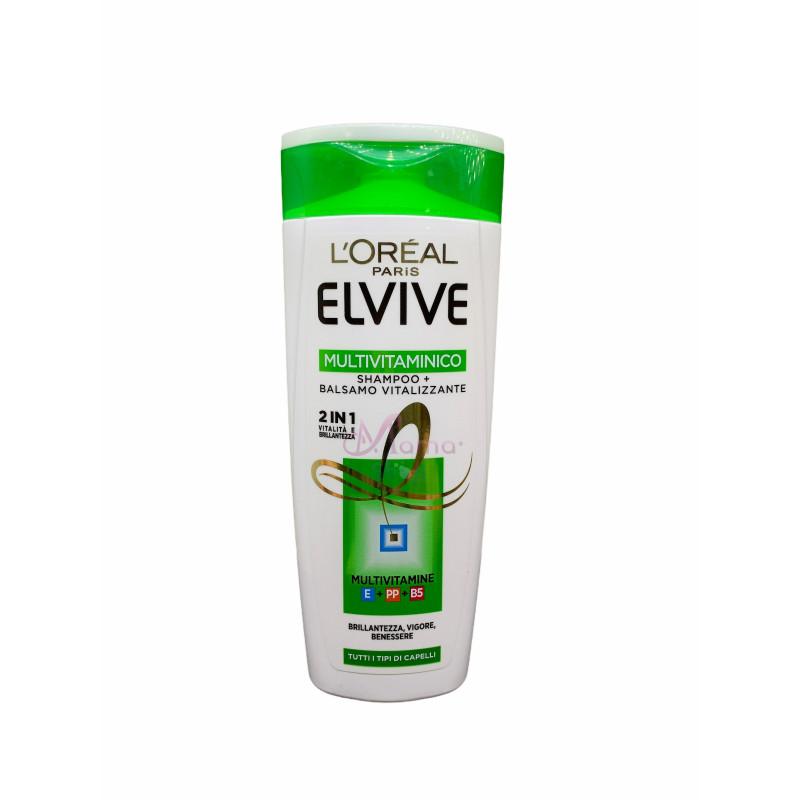 Elvive shampoo 2in1 multivitaminico vitalizzante per tutti i tipi di capelli  250 ml