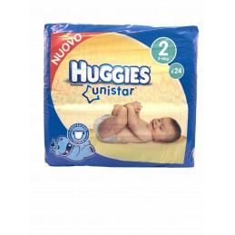 Huggies unistar 2 3-6 kg x24 pannolini